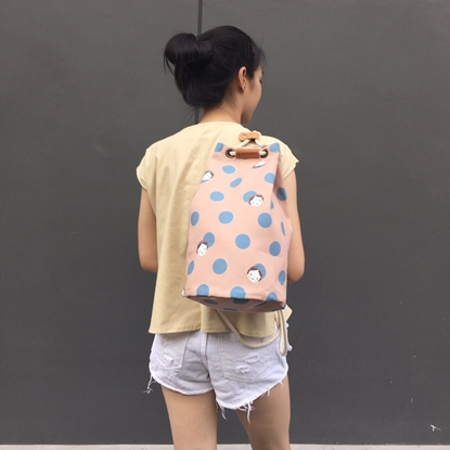 Picture of Blue Dot Bucket Backpack