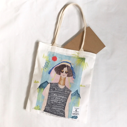 Picture of Karen Girl Fabric Tote Bag