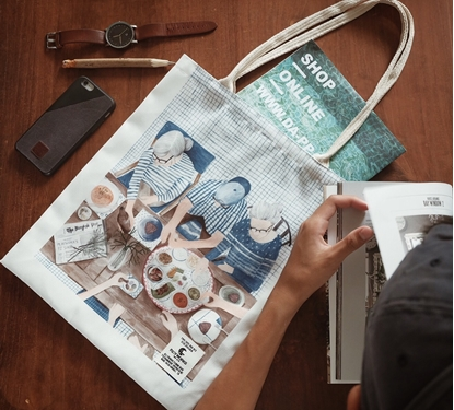 Picture of Family Dinner Fabric Tote Bag