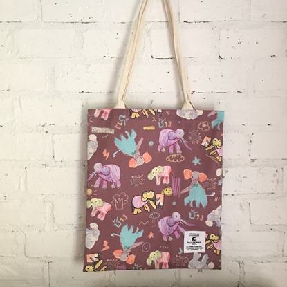 Picture of Elephant Kids Art Fabric Tote Bag