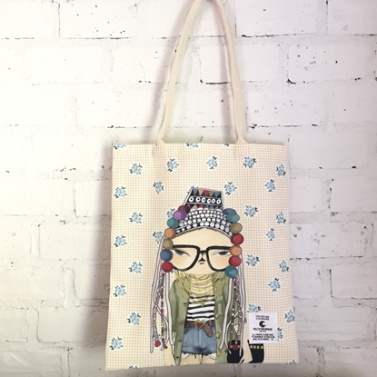 Picture of Chic Hmong Girl Fabric Tote Bag