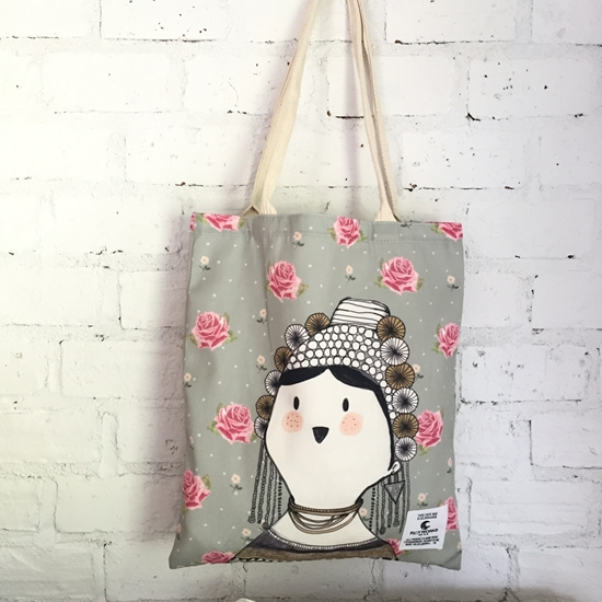 Picture of Rose Fabric Tote Bag