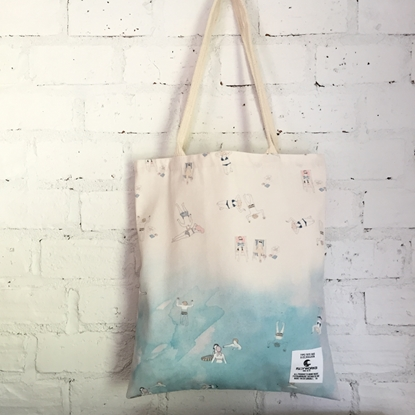 Picture of Sea & Sand Fabric Tote Bag