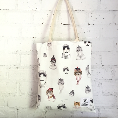 Picture of Cat Lover Fabric Tote Bag