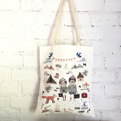 Picture of Cute Couple Fabric Tote Bag