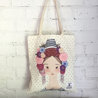 Picture of Dot Fabric Tote Bag
