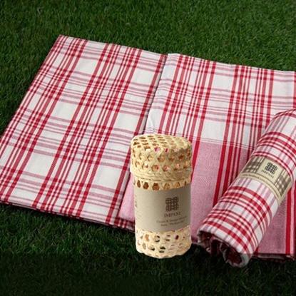 Picture of ผ้าขาวม้าพร้อมกล่องของขวัญสานไม้ไผ่