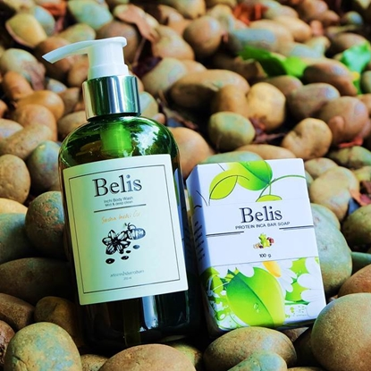Picture of Belis Sacha inchi facial/body wash & Protein Sacha inchi bar soap set