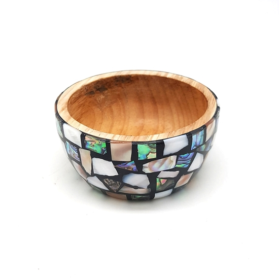 Picture of  Pearl shell Wood Bowl