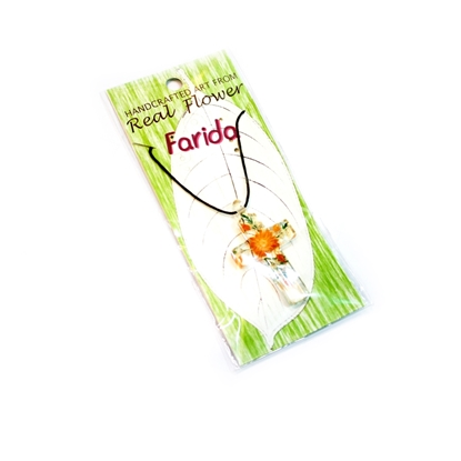 Picture of Brilliant Orange Flower Necklace
