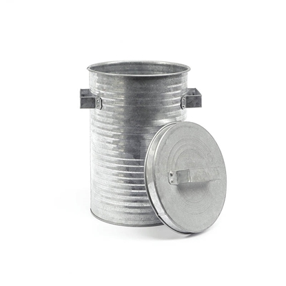 Picture of Pleated Galvanize Trash can (Small Size)