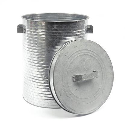 Picture of Pleated Galvanize Trash can (Large Size)