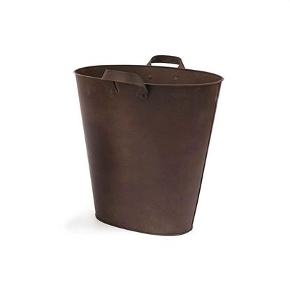 Picture of ถังทรงกระเป๋าสังกะสี หูจับโลหะสีสนิมทองแดง (ไซส์ใหญ่)