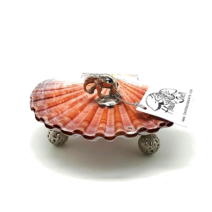 Picture of Scallop shell tray double cover with elephant