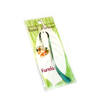 Picture of Brilliant Orange Flower Heart Bookmark
