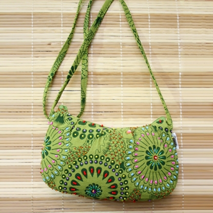 Picture of Colorful lime hobo crossbody bag