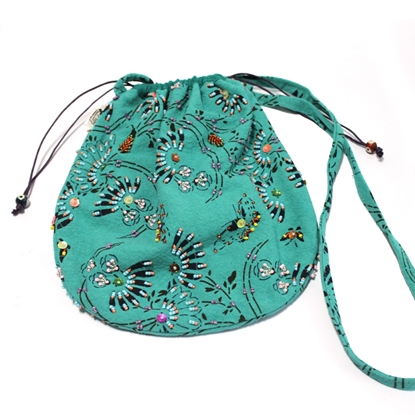 Picture of Bluegreen floral crossbody bag