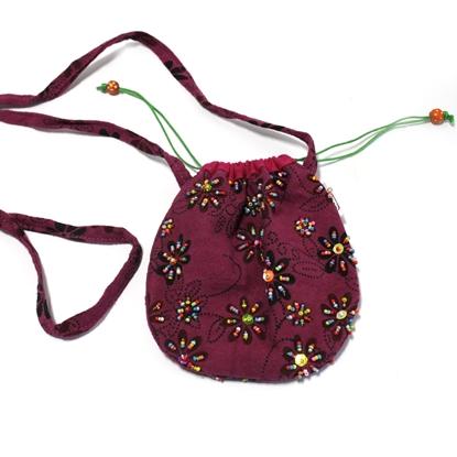 Picture of Dark purple cotton pouch