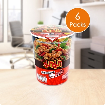 Picture of Mama Cup Instant Noodles Spicy Basil Stir-Fried Flavour (Pack 6)
