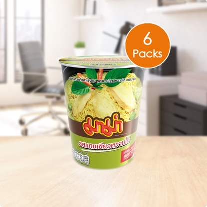 Picture of Mama Instant Cup Noodles Chicken Green Curry Flavor (Pack 6)