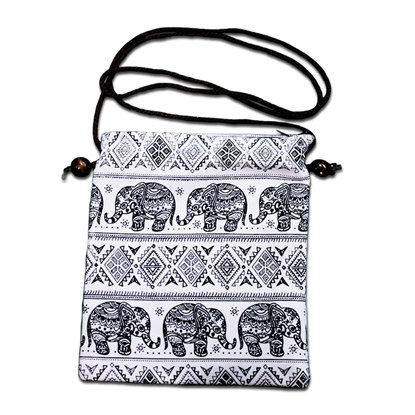 Picture of Black tribal hmong elephant Neck wallet
