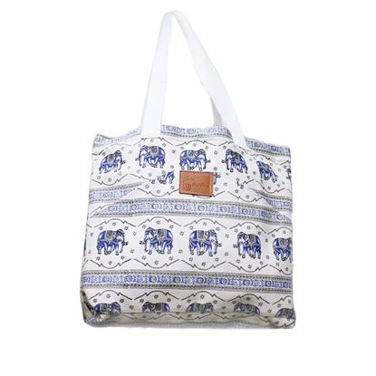 Picture of Ocean Blue tribal elephant shoulder bag