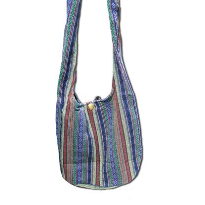 Picture of Tribal Hmong cotton shoulder bag - Blue