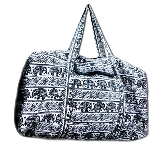 Picture of Dark blue tribal elephant Travel bag