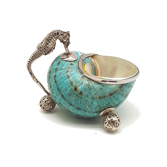 Picture of Sugar bowl with seahorse handle