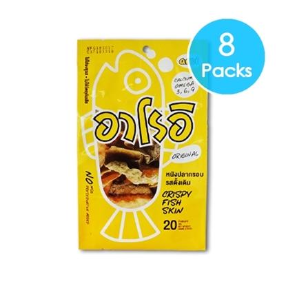 Picture of Crispy Fried Cod Fish Skin (Original) 20g. (8 Packs)