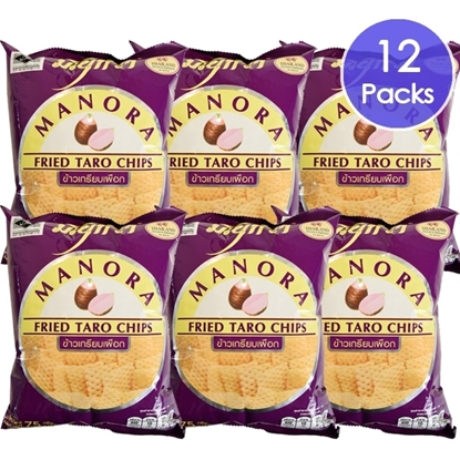 Picture of Manora Fried Taro Chips 75 g. (Pack 12)