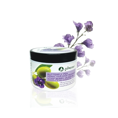 Picture of Butterfly Pea Herbal Extract Shampoo Hair Mask Treatment 300 g