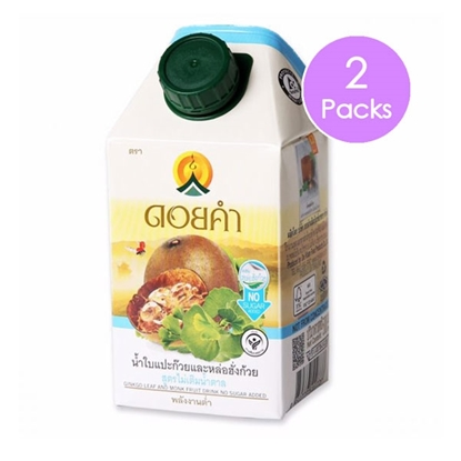 Picture of Doikham Ginkgo Leaf and Monk Fruit Drink No Sugar Added 500 ml. (2 packs)