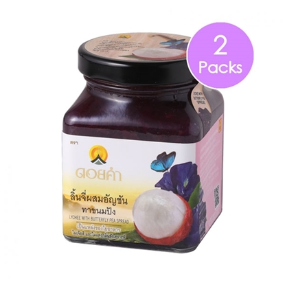 Picture of Doikham Lychee With  Butterfly Pea Spread 220 g (2 packs)