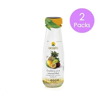Picture of Doikham Mix fruit juice 98% Chlorophyll 100 ml. (2 packs)