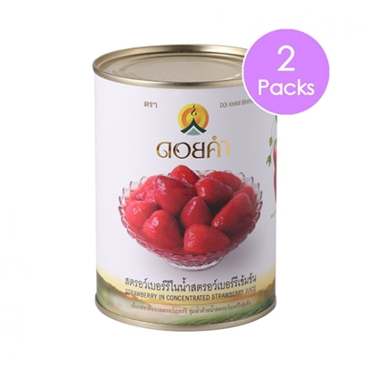 Picture of Doikham Strawberry in Concentrated Strawberry Juice 565 g (2 packs)