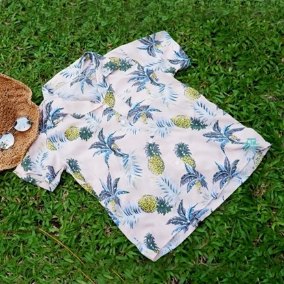 Picture of Pineapple Hawai Shirt - Baby Pink free size for men