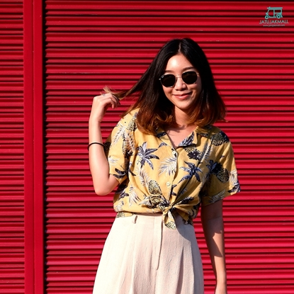 Picture of Pineapple Hawai Shirt - Yellow free size for women