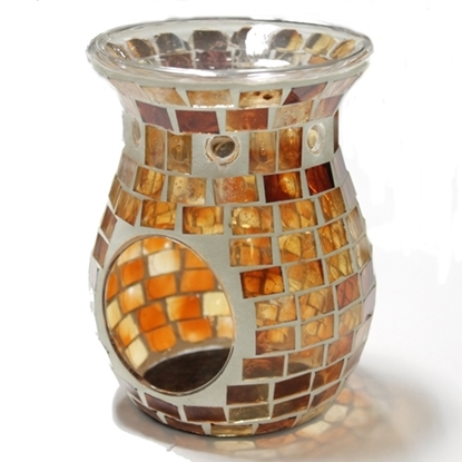 Picture of Brown Mosaic Glass Warmer