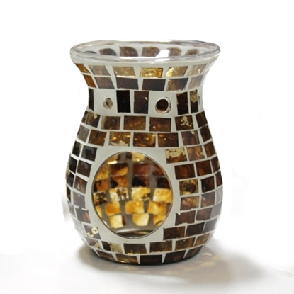 Picture of Dark Brown Mosaic Glass Warmer
