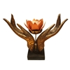 Picture of Delicate Elegant Hand Figures Softwood Candle Holder Size 22.5 cm.