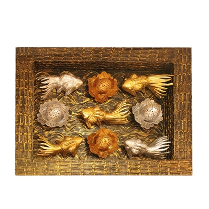 Picture of 3D Gold Fish and Lotus Fortune LED Lamp