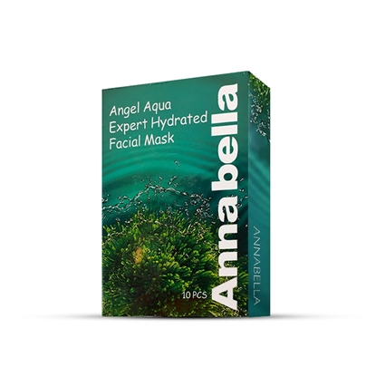 Picture of Annabella Angel Aqua Expert Hydrated Seaweed Facial Mask 1 Box (10 Pieces)