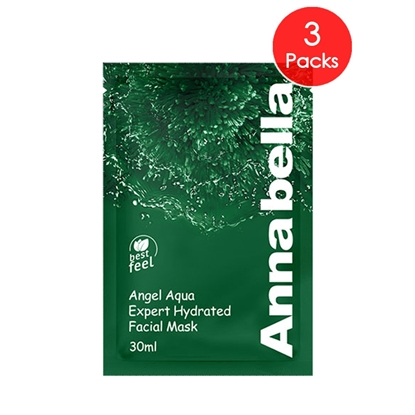Picture of Annabella Angel Aqua Expert Hydrated Seaweed Facial Mask 3 Pieces