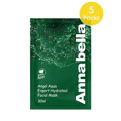 Picture of Annabella Angel Aqua Expert Hydrated Seaweed Facial Mask 5 Pieces