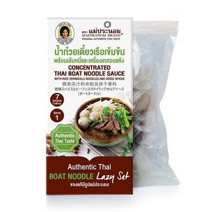 Picture of Concentrated Thai Boat Noodle Sauce with Rice Vermicelli Noodles and Dried Spice