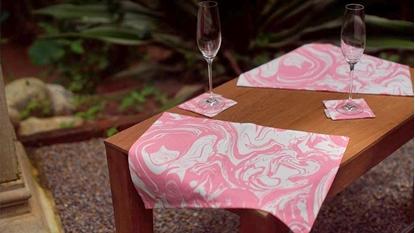Picture of ผ้ารองจาน Cotton ลาย Lava Pink