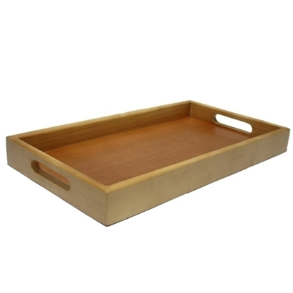 """Picture of Mango Wooden Tray with handle 9 x 12"""""""