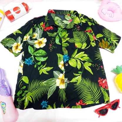 Picture of Hawai Leaves Shirt - Black free size