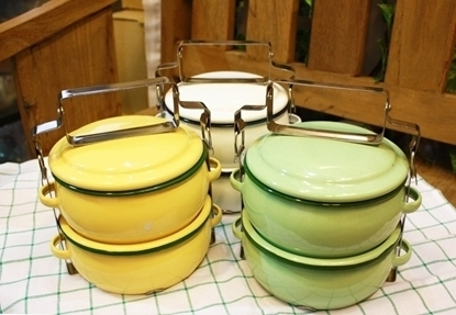Picture of Thai Enamelware - Lunch Box 2 Tier